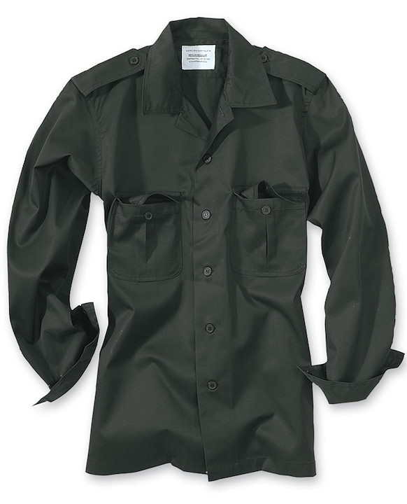 TACTICAL SHIRT 1/1 A, SCHWARZ