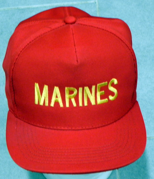 CAP, STICHED, MARINES, RED