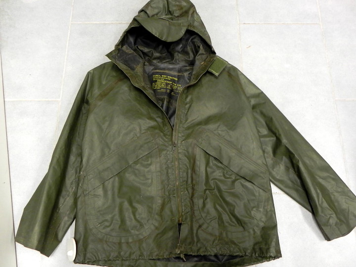 US NAVY JACKET, GUMMIERT