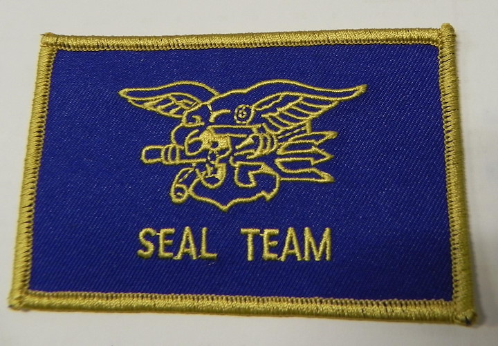 PATCH SEALTEAM, BLUE/GOLD,