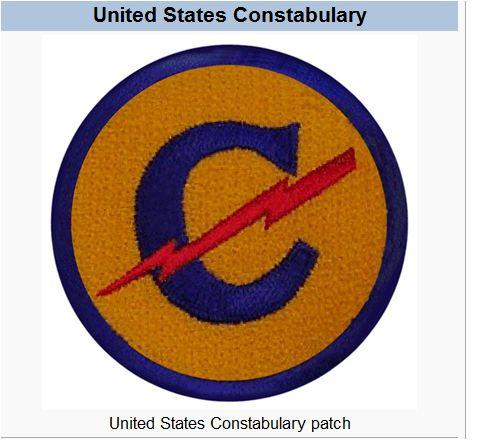 PATCH US ARMY CONSTABULARY